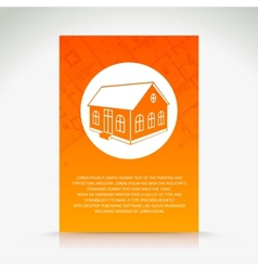 Orange house pattern vector