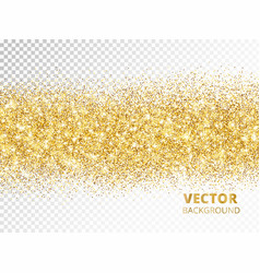 Sparkling glitter border isolated on transparent vector