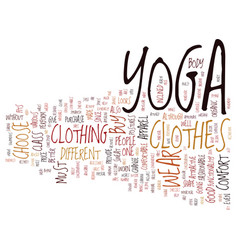 Yoga apparel text background word cloud concept vector