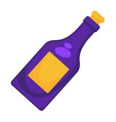 purple wine bottle vector image
