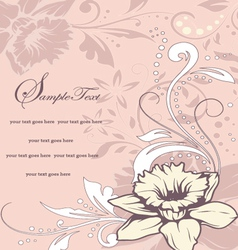 Wedding card or invitation with abstract floral ba vector