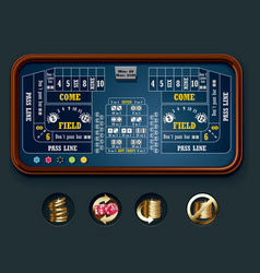 Craps table layout big vector
