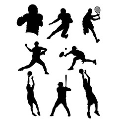 Sports athletes vector