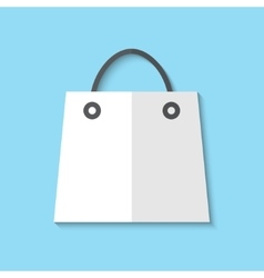 shopping basket web flat icon vector image