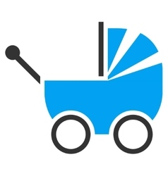 Baby carriage icon vector