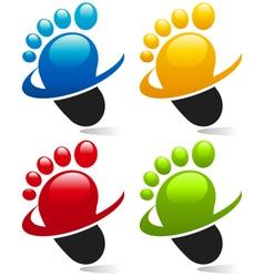 Swoosh Foot Logo Icons vector image