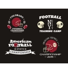 American football championship team training camp vector image vector image