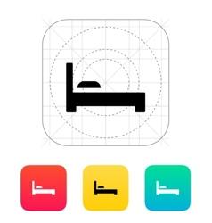 Bed icon vector