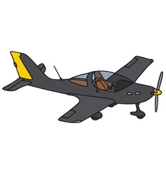 Black airplane vector image vector image