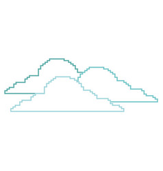 Clouds pixel climate day nature vector
