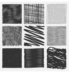 Collection of backgrounds with linear doodles vector image vector image