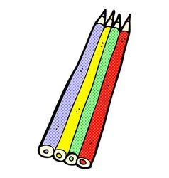 Comic cartoon colored pencils vector