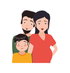 Couple family pregnancy and kid vector