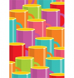 cups of coffee background vector image