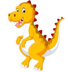 cute baby dinosaur vector image