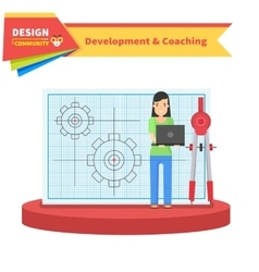 Development and Coaching Woman vector image