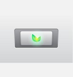 eco green iconbuttonmodern vector image vector image