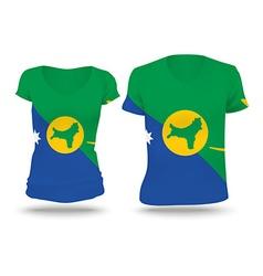 Flag shirt design of christmas island vector