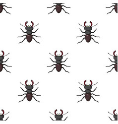 Forest red ant icon in cartoon style isolated on vector
