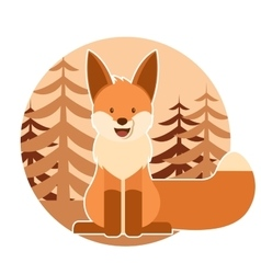 Fox in the forest vector image