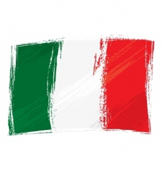 grunge Italy flag vector image vector image