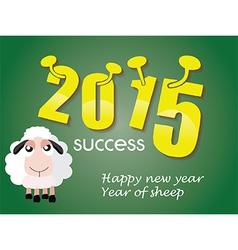 Happy new year 2015 year of sheep vector image vector image