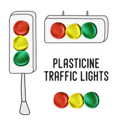 International traffic lights day posters vector