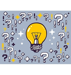 many questions and exclamation marks arou vector image vector image