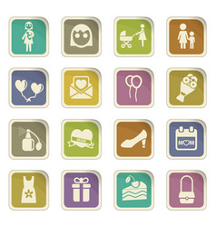 Mother day icon set vector