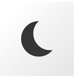 Night icon symbol premium quality isolated moon vector
