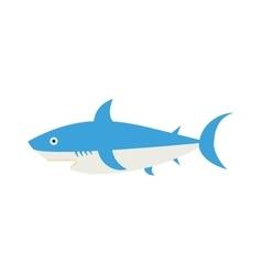 Ocean animal design of cartoon shark vector