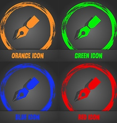 Pen icon Fashionable modern style In the orange vector image
