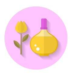 Perfume bottle flat icon vector