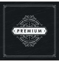 Premium Floral emblem vector image vector image