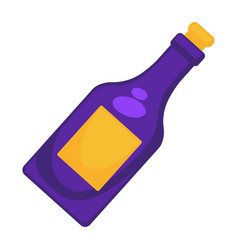 purple wine bottle vector image