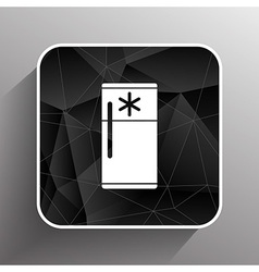 refrigerator icon cold kitchen object furniture vector image
