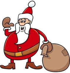 Santa with sack cartoon vector