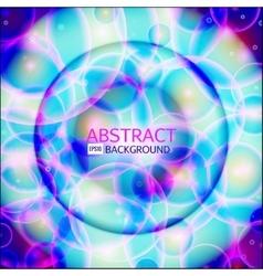 Shining circle banner Glowing spiral vector image