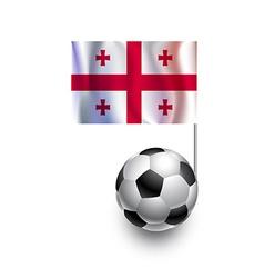 Soccer balls or footballs with flag of georgia vector