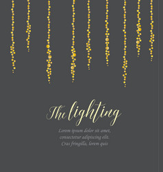 string lights vector image