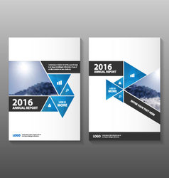 Triangle blue annual report leaflet brochure flyer vector