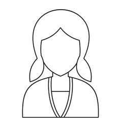 Women avatar icon outline style vector