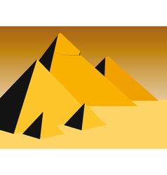 pyramids vector image