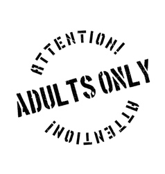 Adults only rubber stamp vector