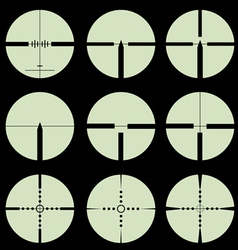 Cross hair and target set vector
