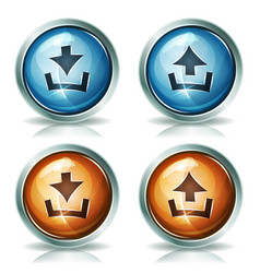 Download and upload web icons vector