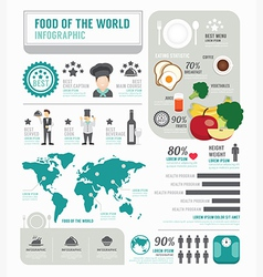 Infographic business of foods template design vector