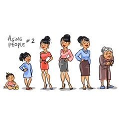 Aging people - set 2 vector