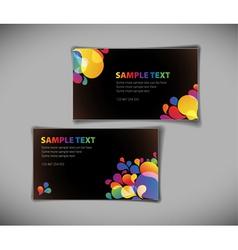Modern card templates vector