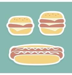 Set of symbols Fast Food vector image